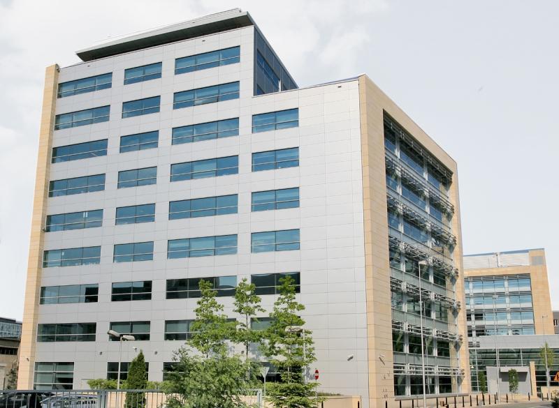 The office building facade