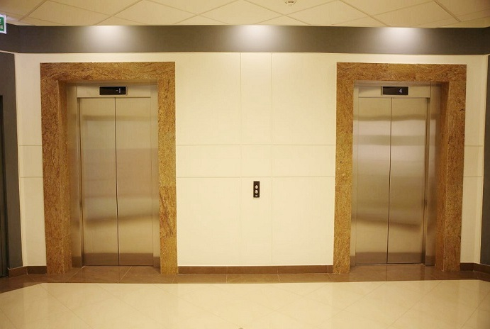 Elevators in the office building