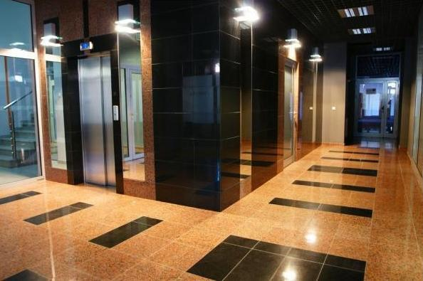 Office building, elevator lobby
