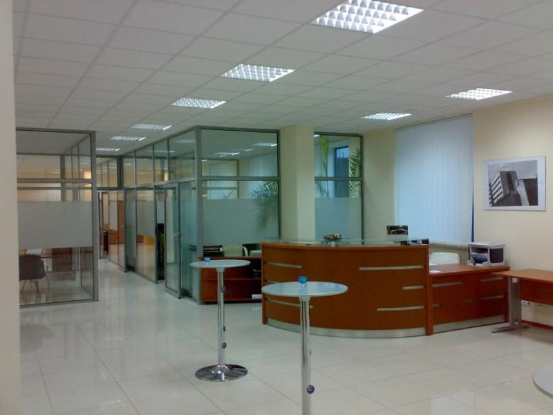 Office building, reception desk