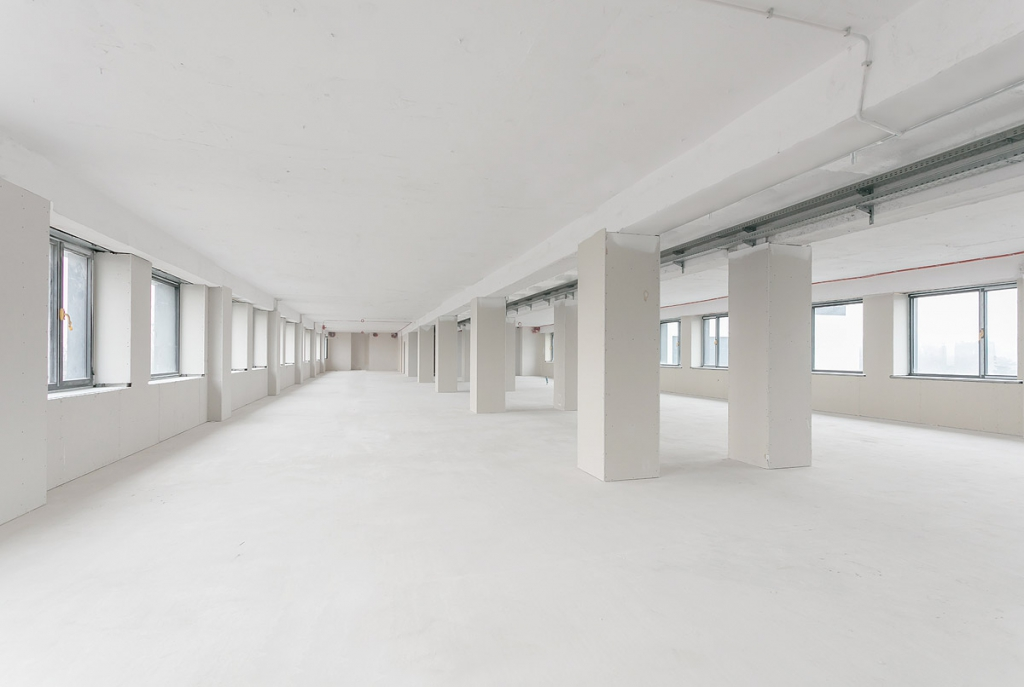 Interior of the office building before arrangment