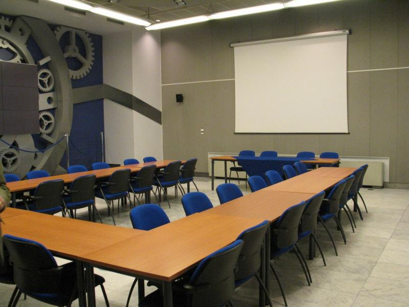 The conference room in the building