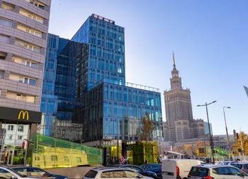 Zawisła wiecha na Centrum Marszałkowska