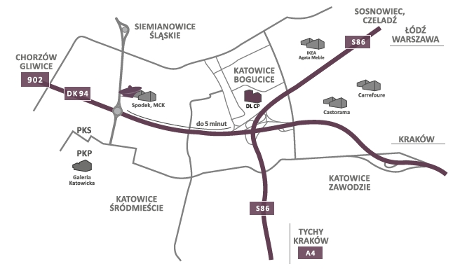 DL Center Point II on the map of Katowice