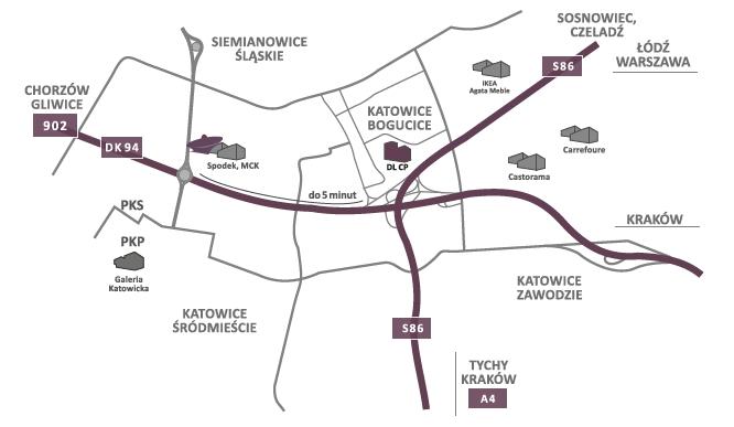 DL Center Point II na mapie Katowic