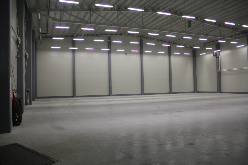 Storage and production hall