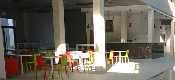 Common area in the building designed for rent