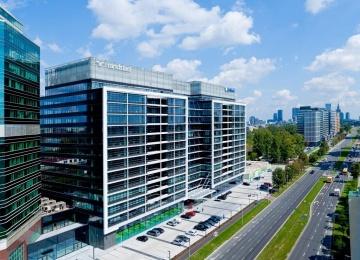II faza kompleksu biurowego Eurocentrum w budowie