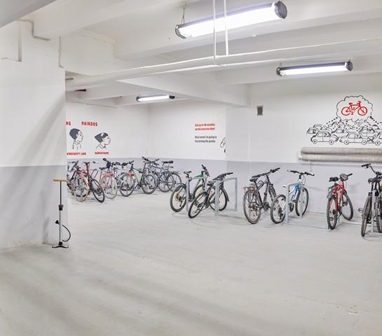 Rowerownia w budynku