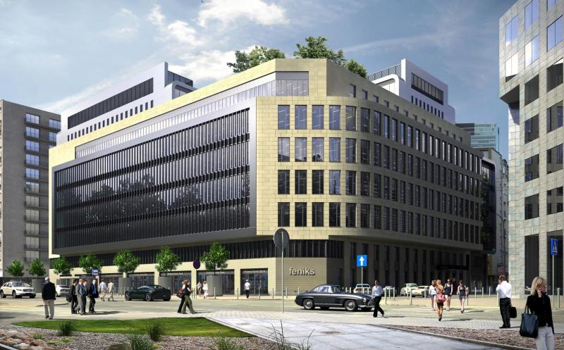 Budynek biurowy, widok od ulicy Żelaznej