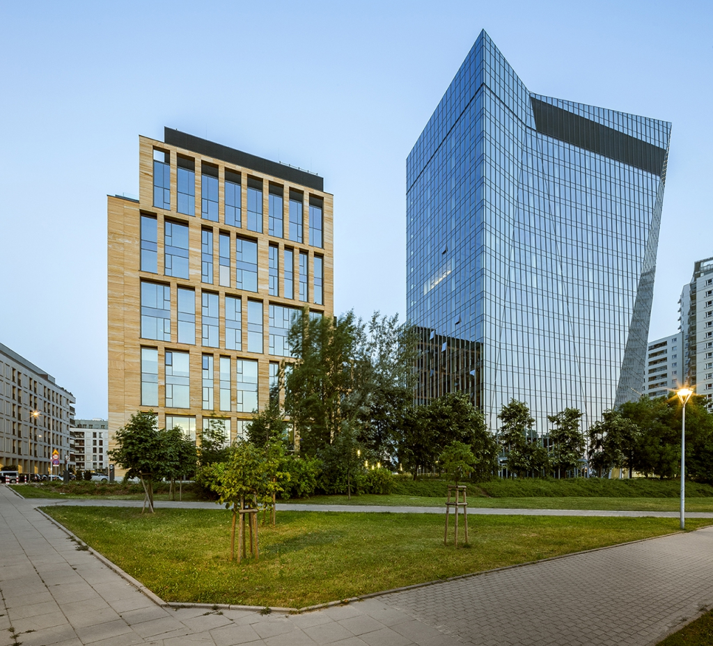 Widok na kompleks biurowy Gdański Business Center
