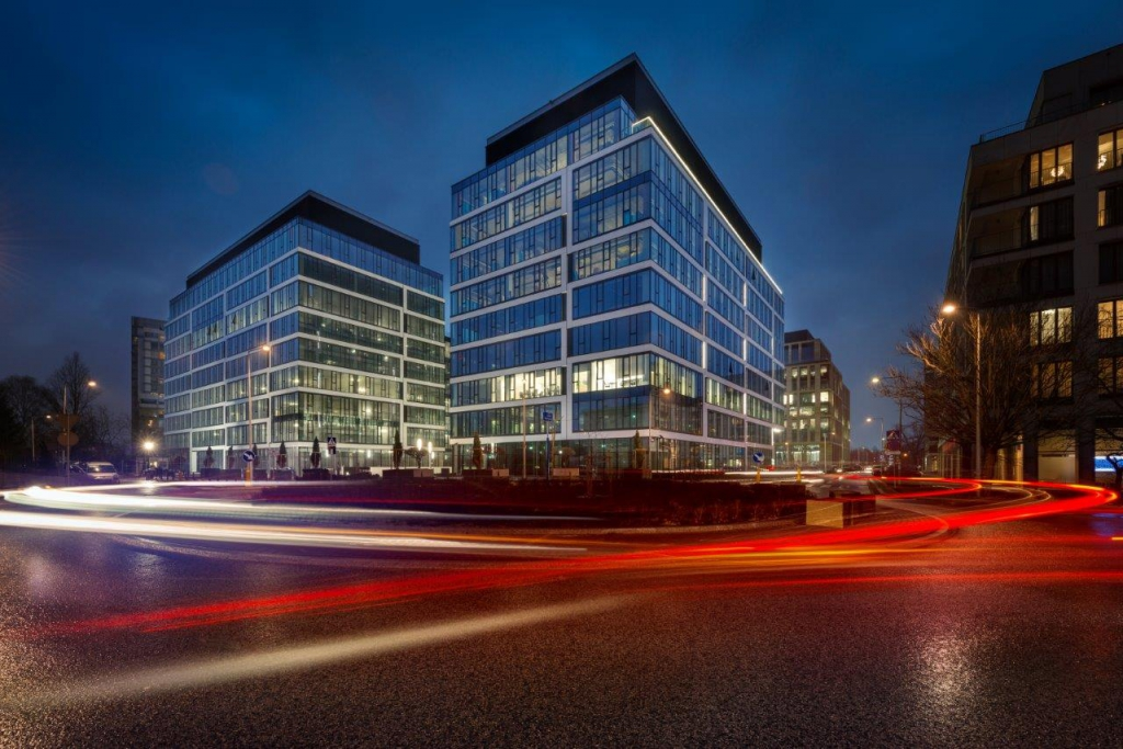 Office building with spaces for lease