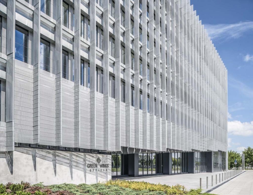 Wejście do budynku biurowego