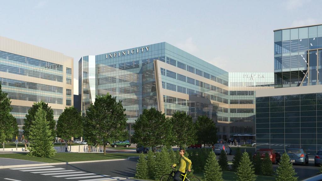 Główny widok na budynek biurowy