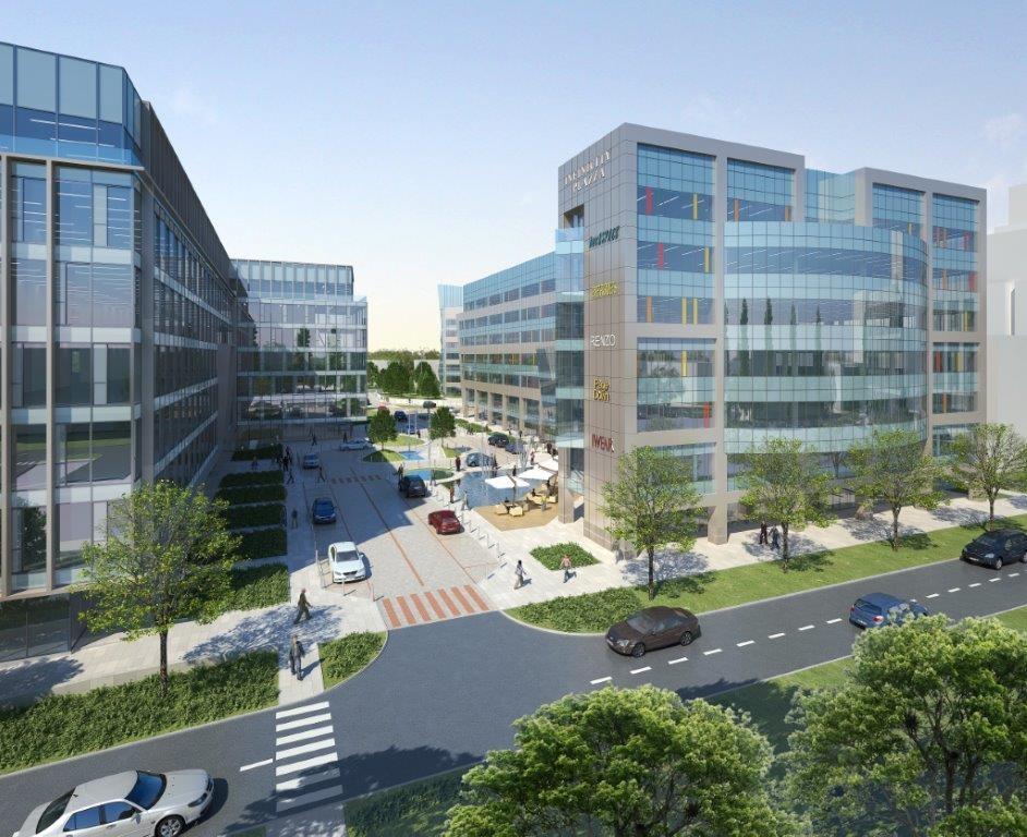 Budynki kompleksu z powierzchnią biurową do wynajęcia
