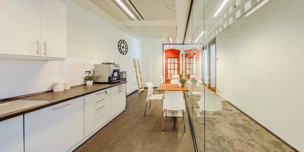Functional kitchenette for tenants on the IX floor