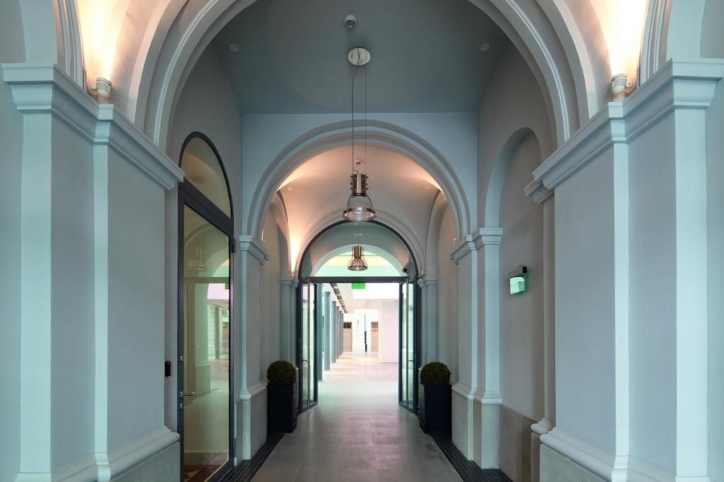 Office building, hallway