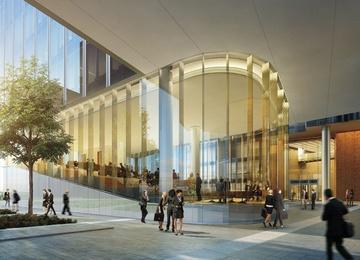 Mennica Legacy West Building osiągnął stan surowy zamknięty