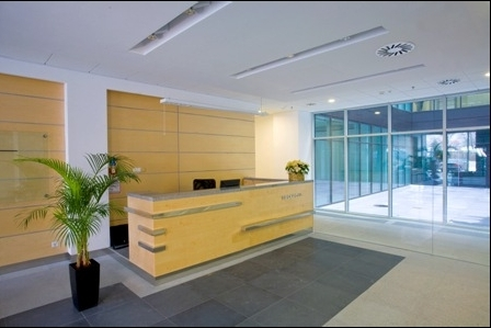 Reception of the office building