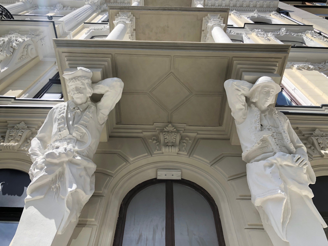 Fragment of the facade of the building with available office space