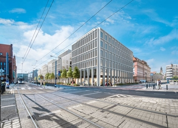 Nowy biurowiec we Wrocławiu
