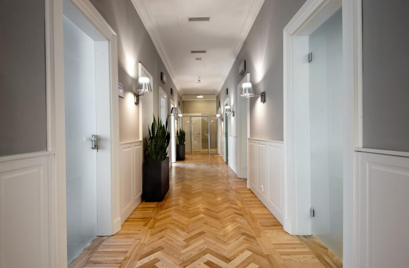 Office building, hallway