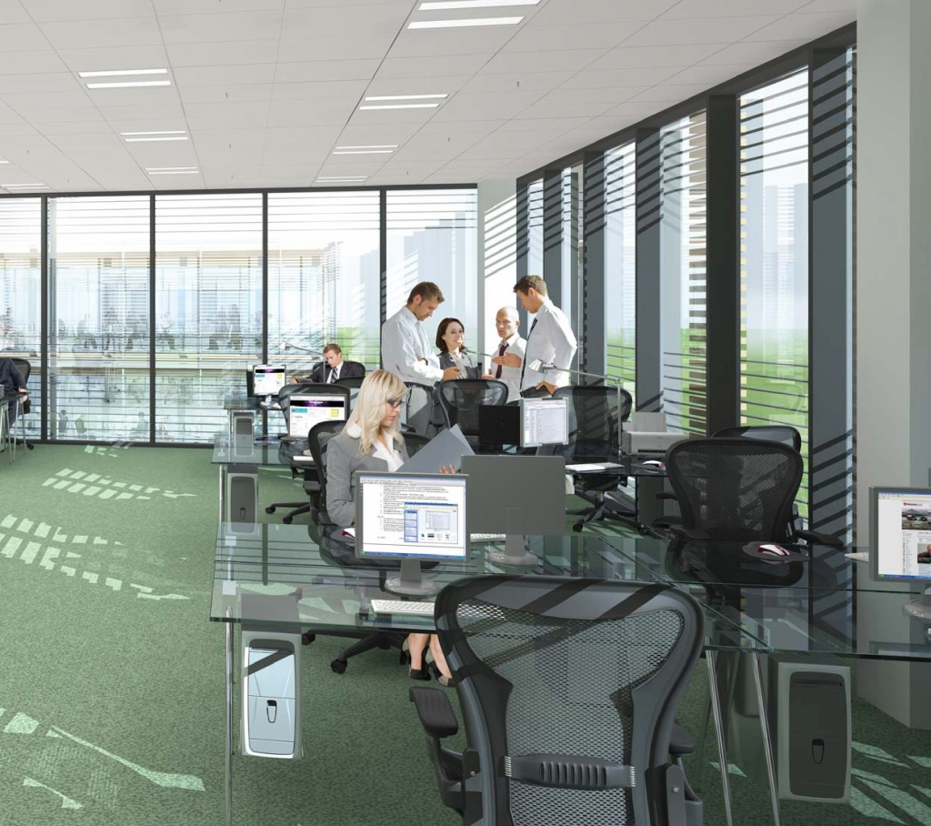 Interior of the office - visualisation