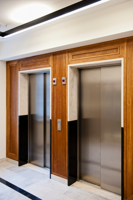 Lifts in office building