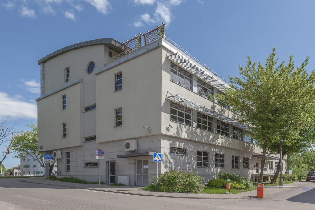 Elevation of the building with office space for rent