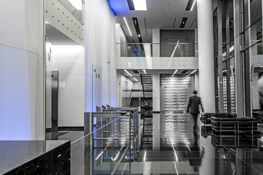 Interiors of the Q22 office building