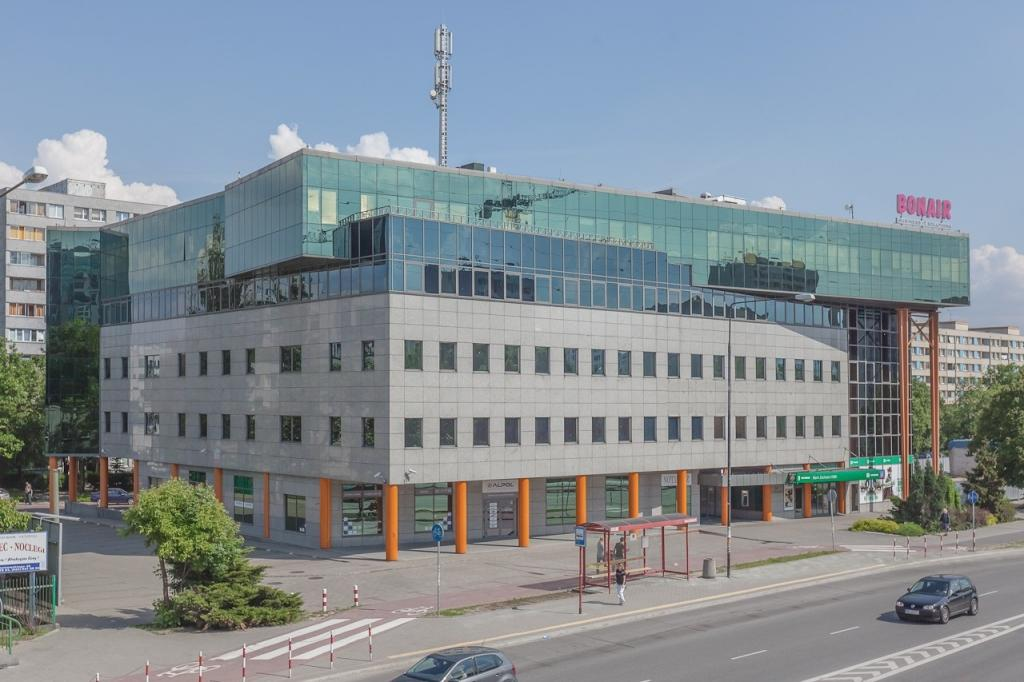 View of the building with office spaces for rent