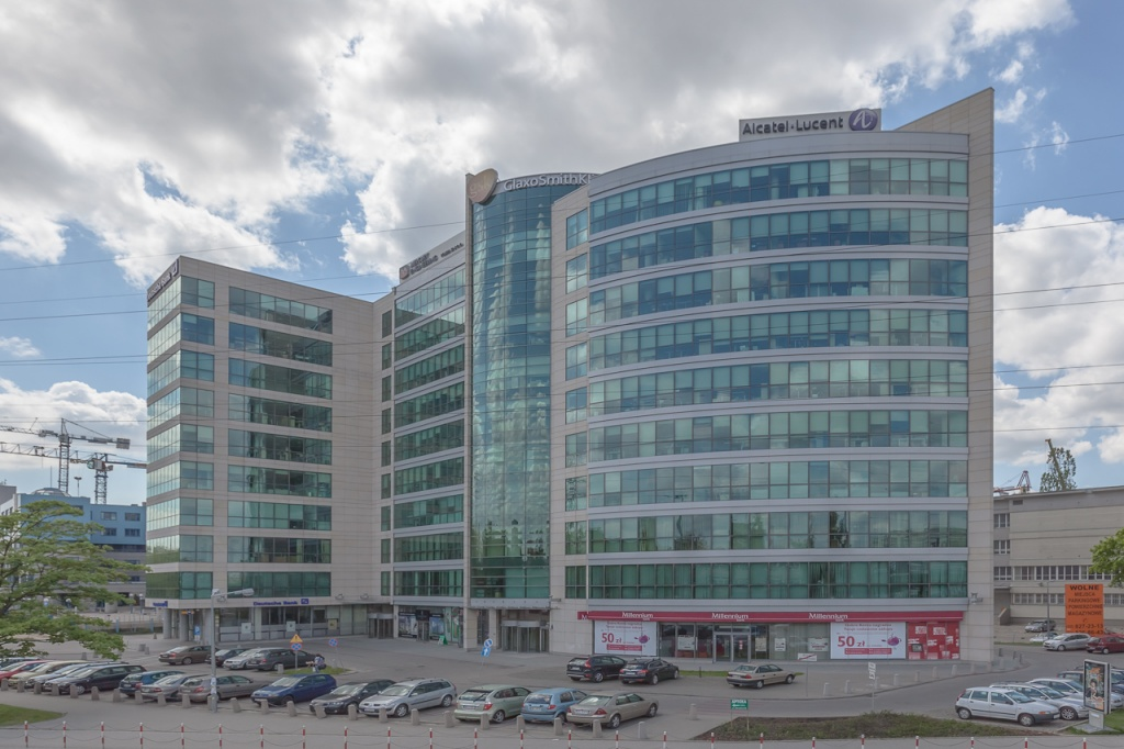 The main view of the office building
