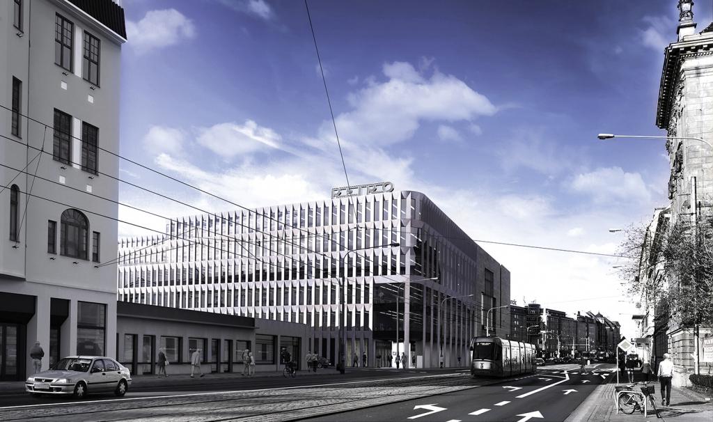 Retro Office House - wizualizacja biurowca