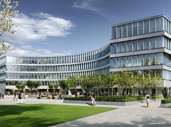 Budynek biurowy, widok od frontu - wizualizacja