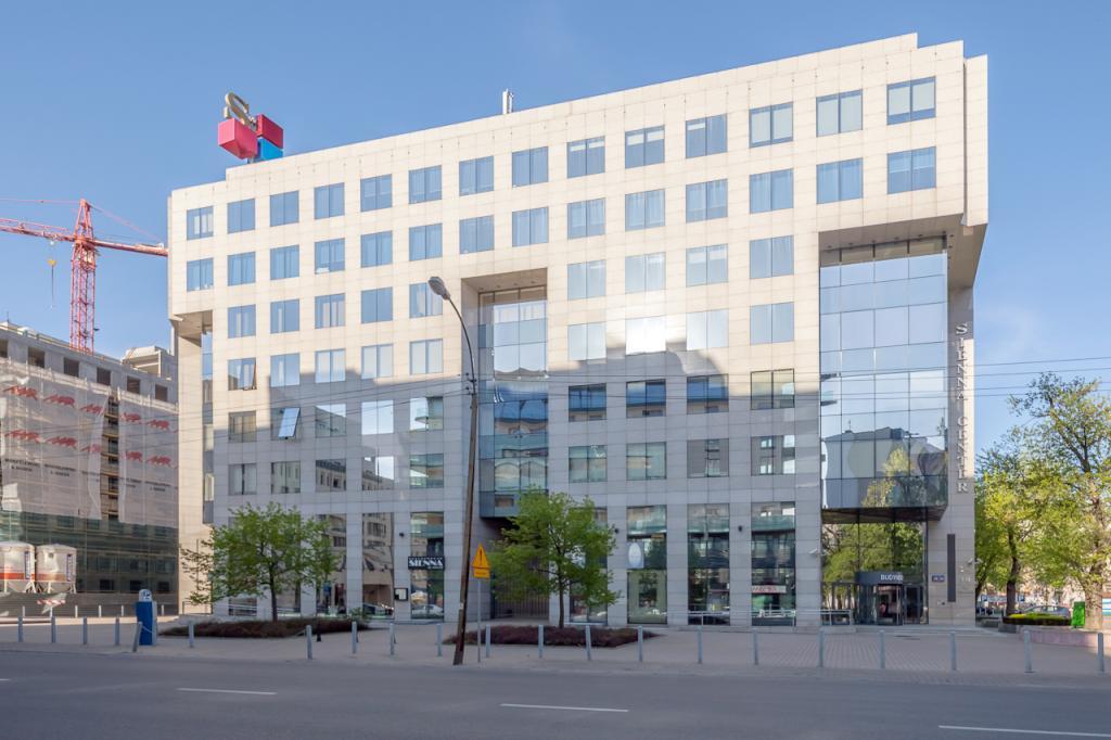 Front budynku biurowego