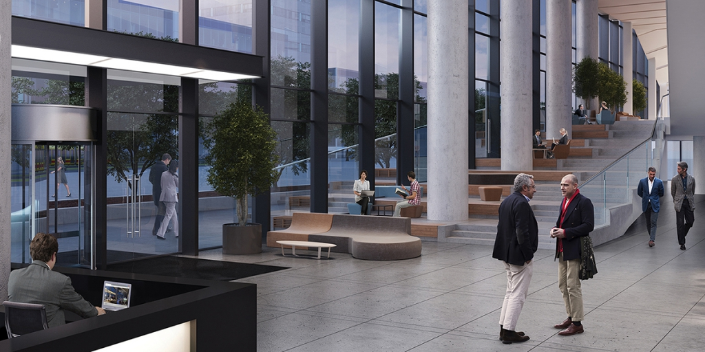 Visualisation of the reception lobby