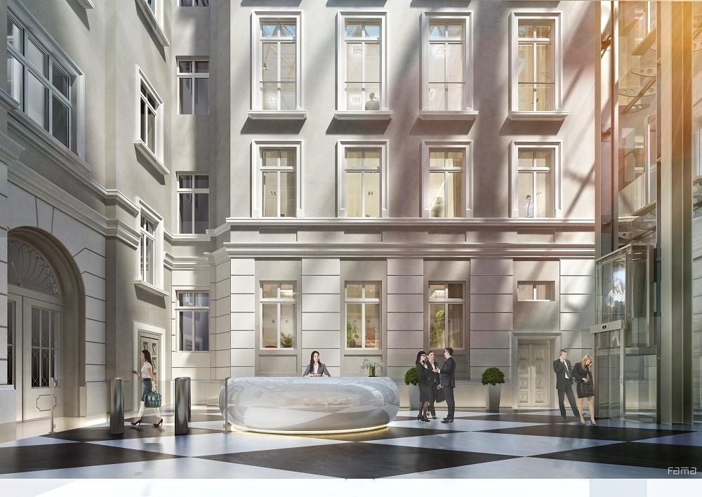 Wizualizacja wnętrza budynku