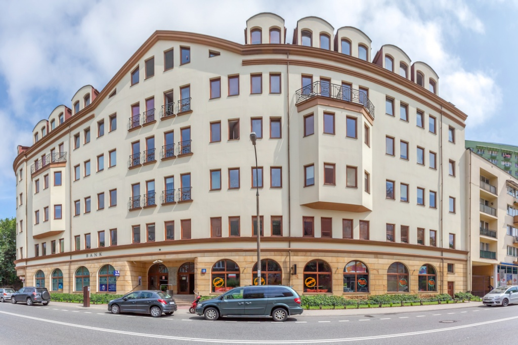 Elevation of the building designed for renting offices