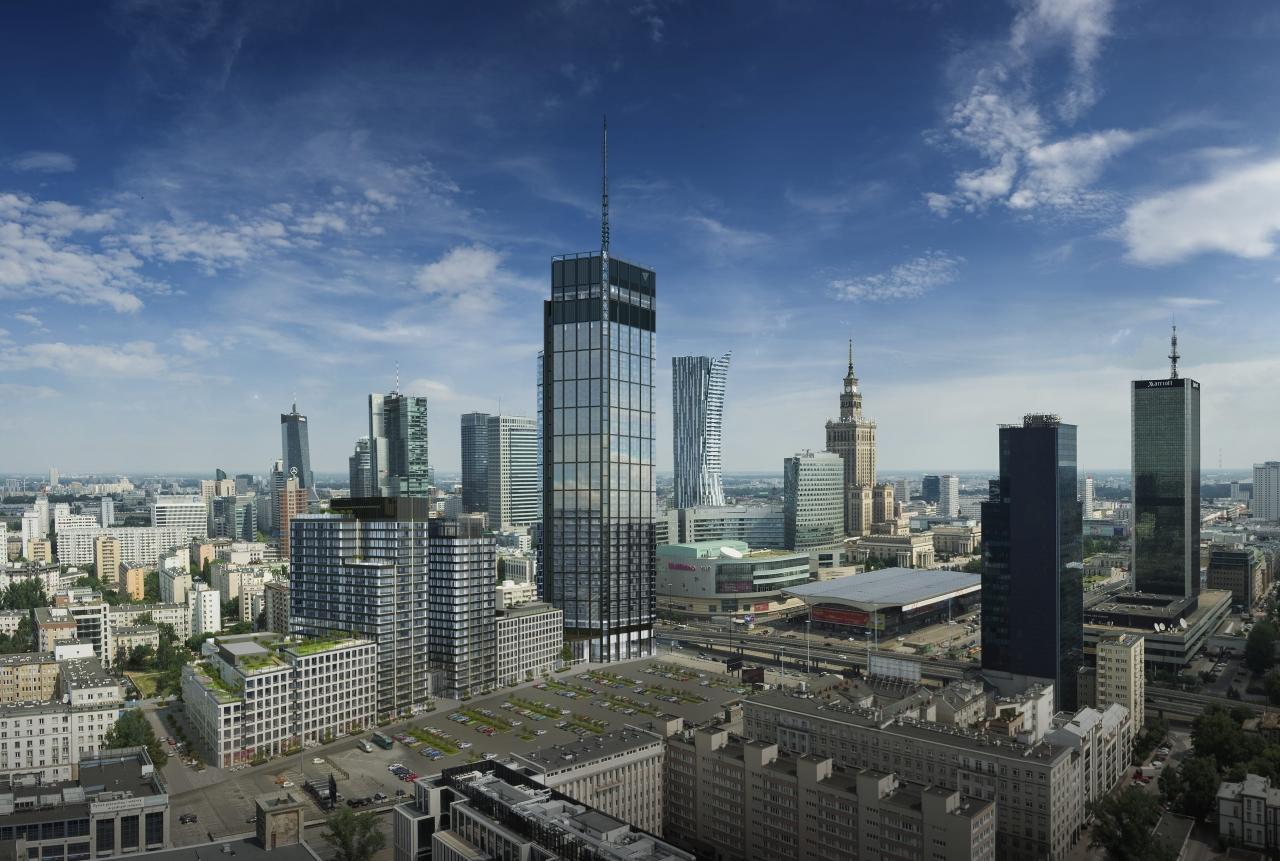 Widok na panoramę miasta