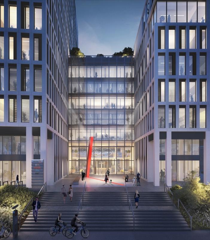Fasada budynku - wizualizacja