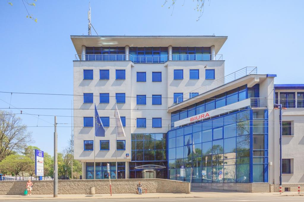 Front view of the office building