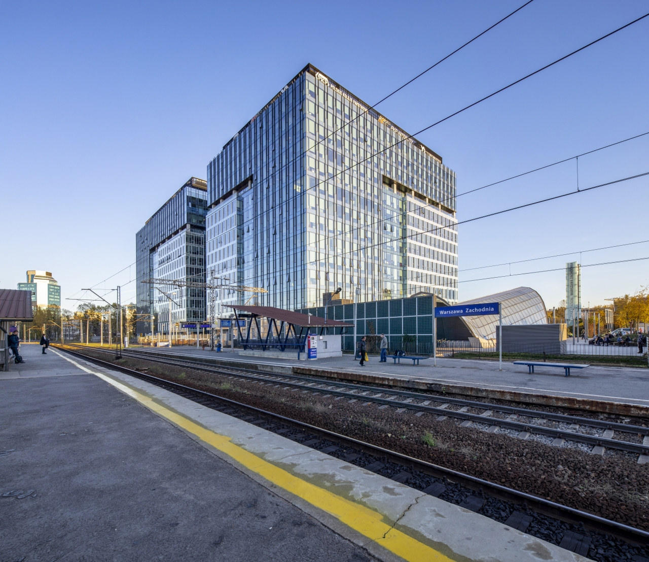 View of the buildings from Warsaw West Railway Station