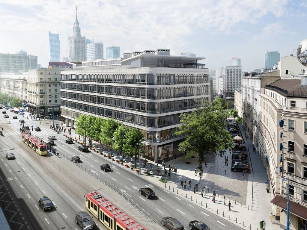 Widok budynku biurowego