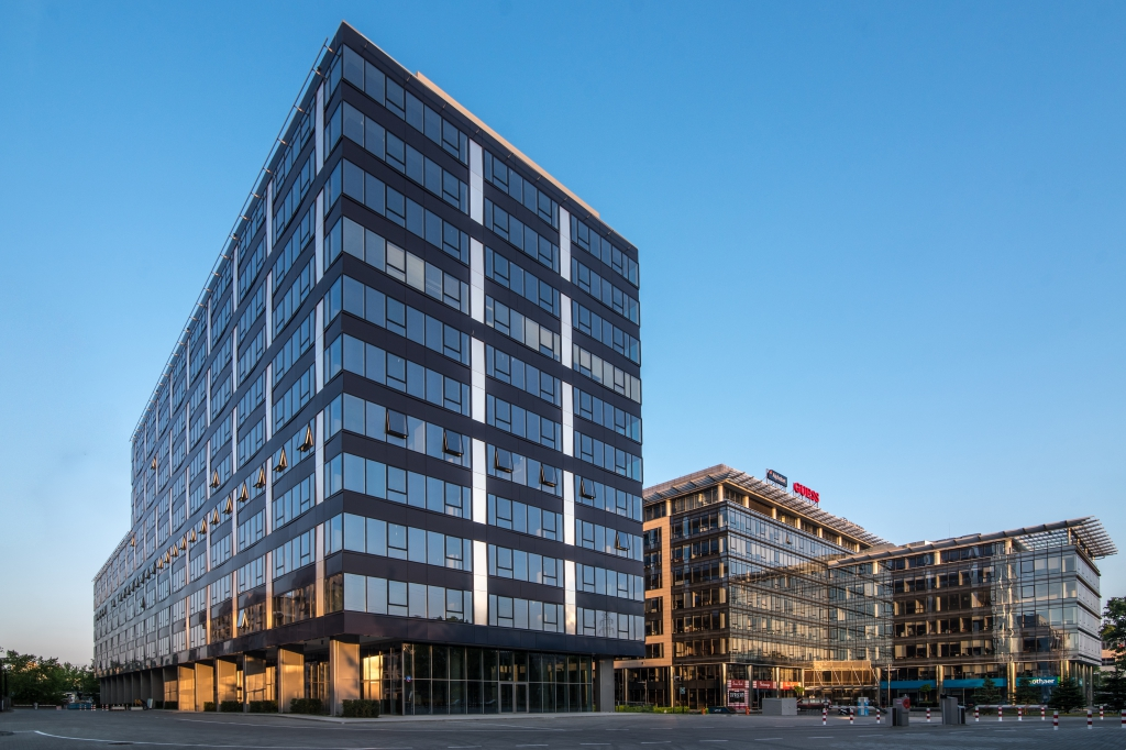 Main view of the office building