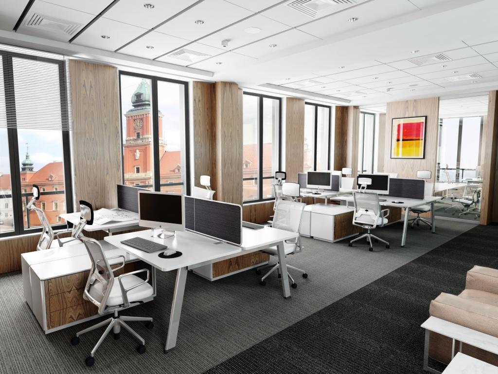 Wnętrza budynku biurowego