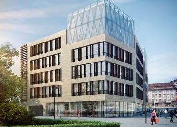 Biurowiec Wrocław 101 w budowie